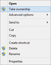 Take Ownership Context Menu Item