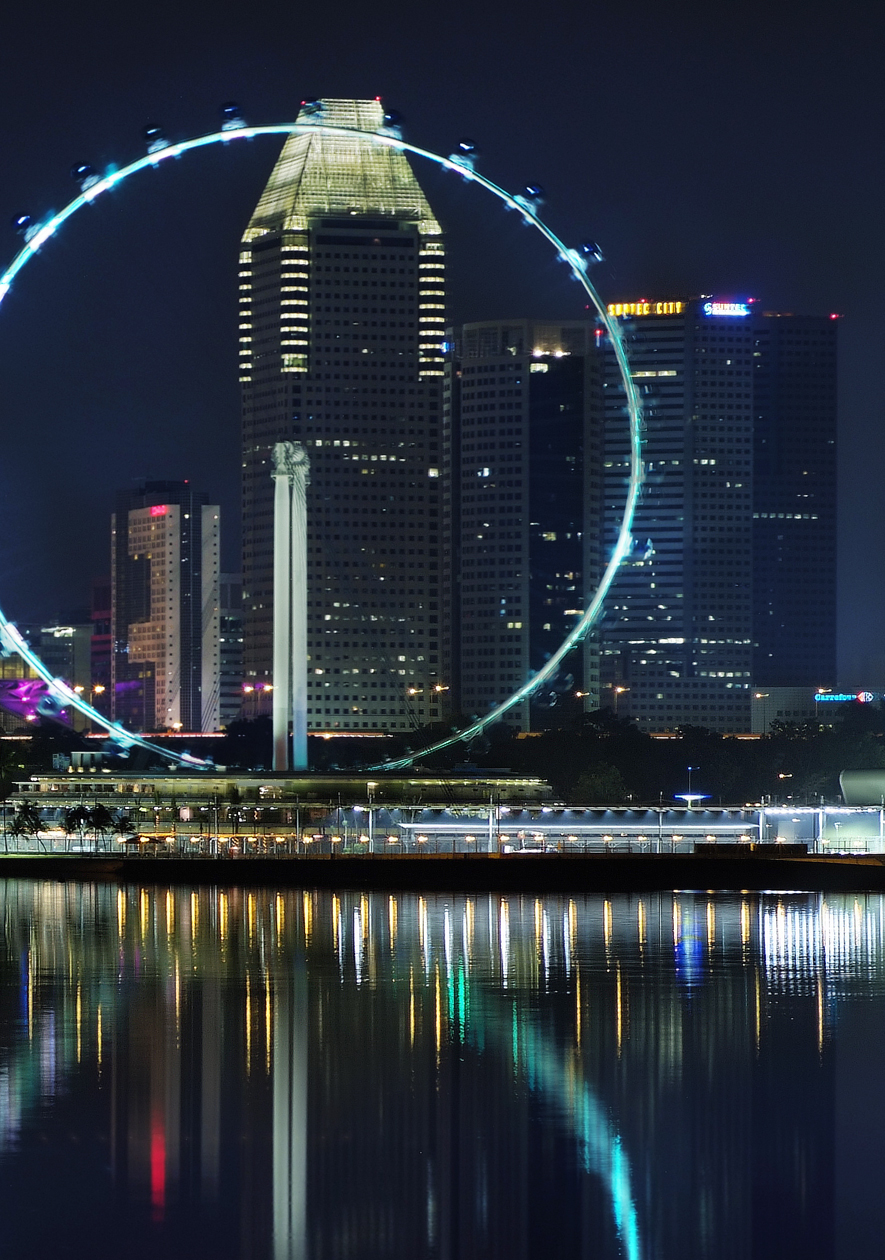 The Singapore_Flyer_at_night