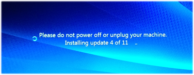 Windows7 Update installing before reboot