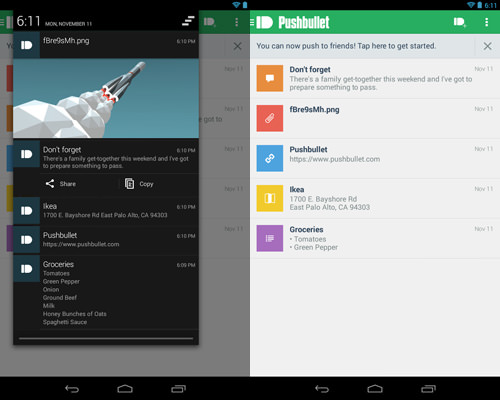 conn PC android pushbullet