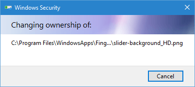 windowsapps folder permissions changing