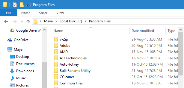 windowsapps folder program files folder