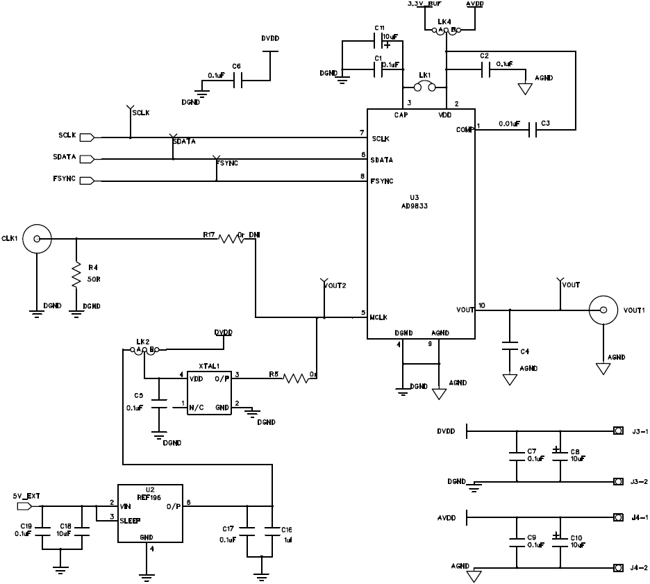 AD9833 Evaluation Board Schematic fig34