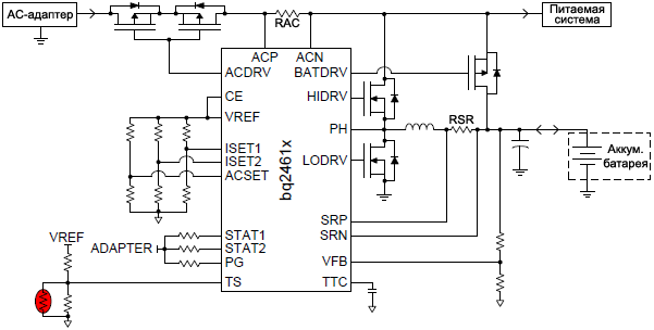 BQ24618 simplified schematic