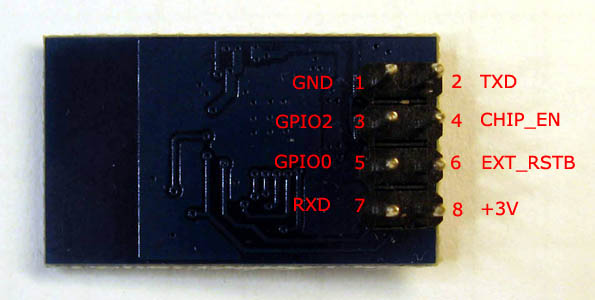 ESP-01 module PCB bottom