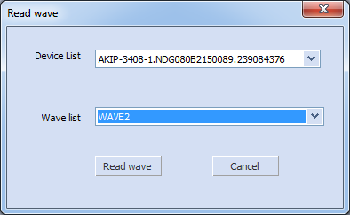 EasyWave Read wave Device List
