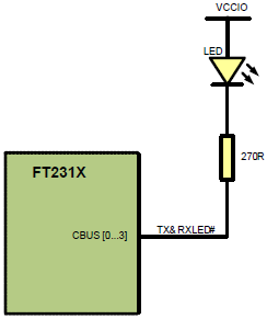 FT231X single LED configuration