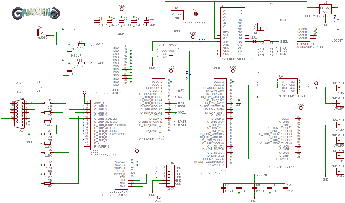 gameduino schematic