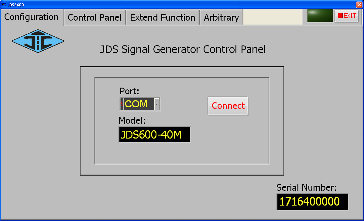 JDS6600 app connected