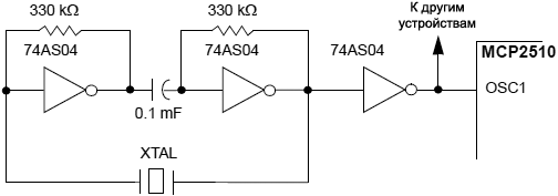 MCP2515 external series resonant crystal oscillator circuit fig8 3