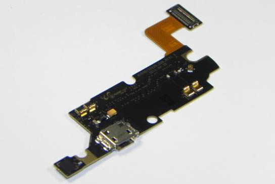 Samsung GT N7000 charging connector microfone board top