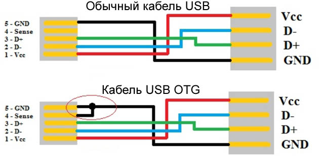 USB regular_cable_and_USB_OTG_cable