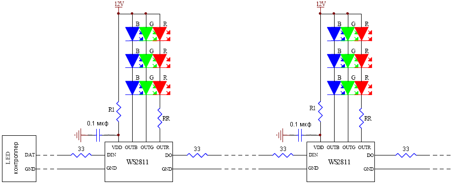 WS2811-typical-application-example-12V