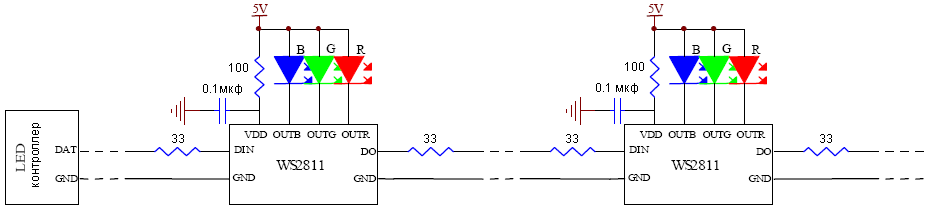 WS2811-typical-application-example-5V