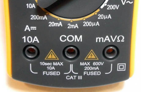 multimeter-select-ports-to-current-measure