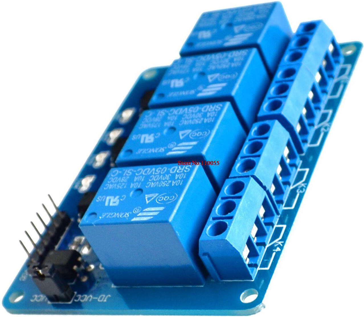 optocoupled 4relay board 5V view3