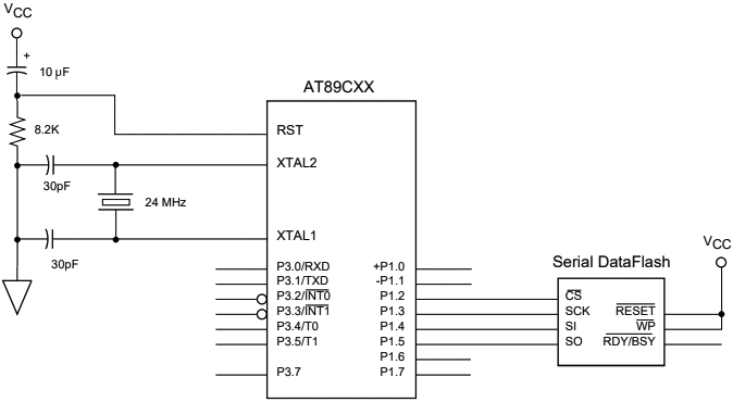 AT45D041 Serial DataFlash connect fig03