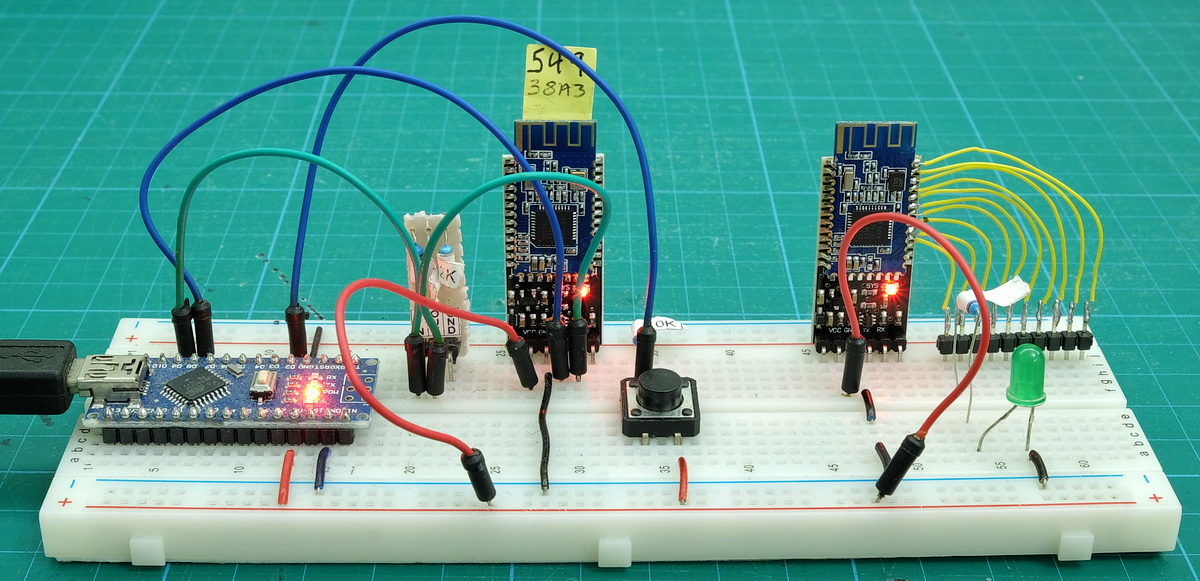 HM 10 MODE2 20 Breadboard switch