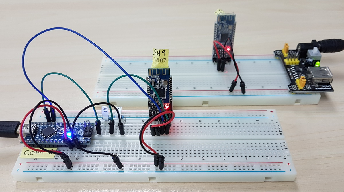 HM 10 SCAN 01 Breadboard