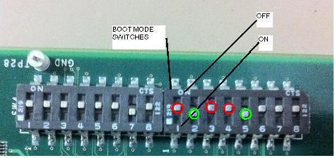 AM335X EVM Boot mode switches