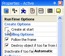Clickteam Fusion Active Object uncheck Create at start