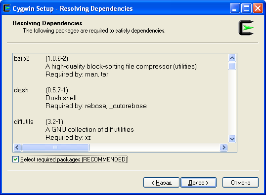 Cygwin-install09-resolving-dependencies