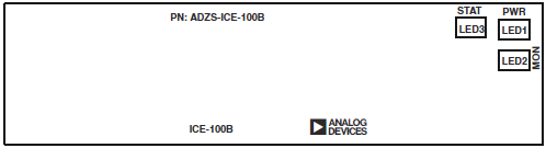 ICE 100B LED positions top Emulator Board