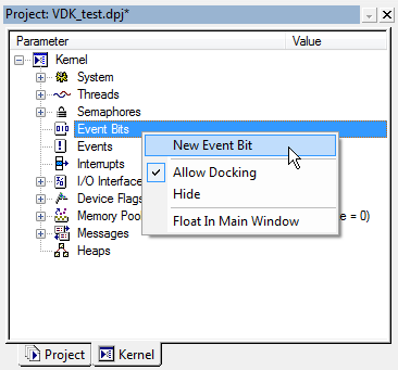 VDK Event Bits context menu fig317