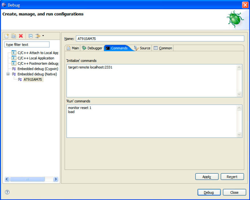 Eclipse Commands Configuration Tab fig5 20