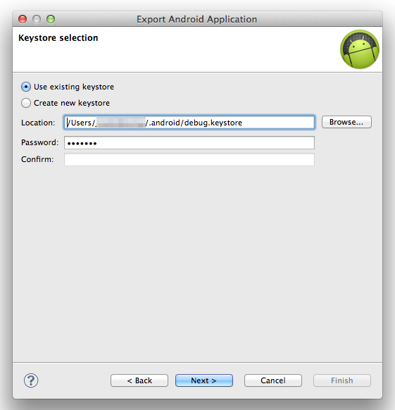 Eclipse-Export-select-keystore