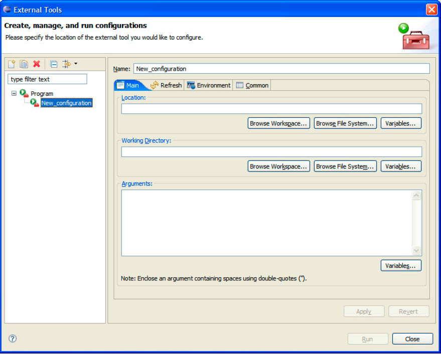 Eclipse External Tool Configuration fig5 23
