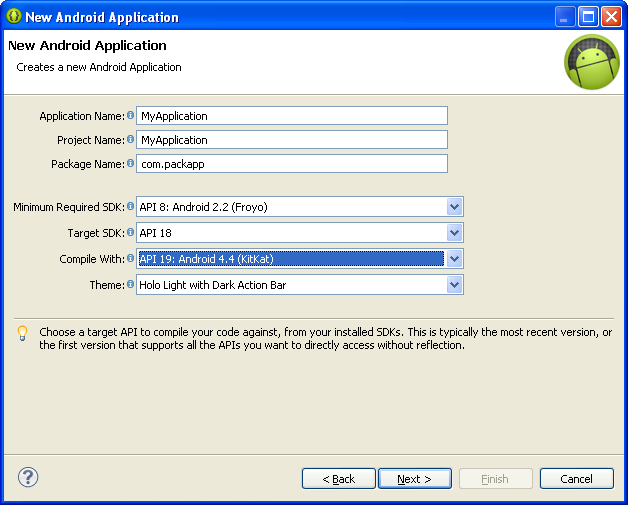 Eclipse-set-application-version-example