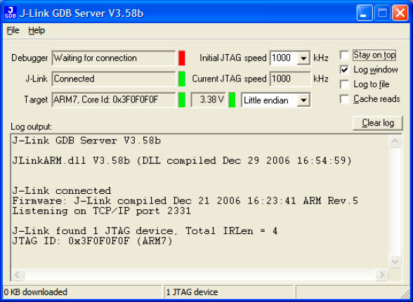 GDB Server Main Window fig3 4