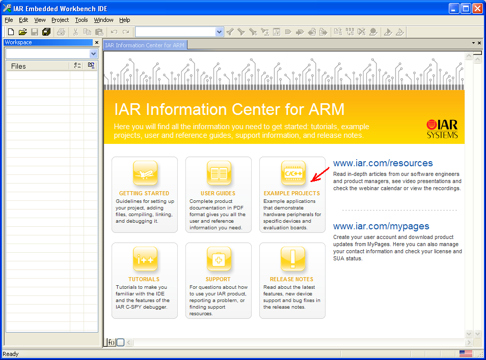 IAR-ARM-example-projects