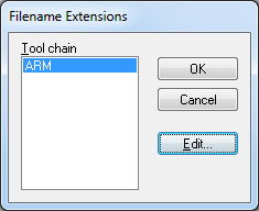 IAR EWB ARM Tools Filename Extensions