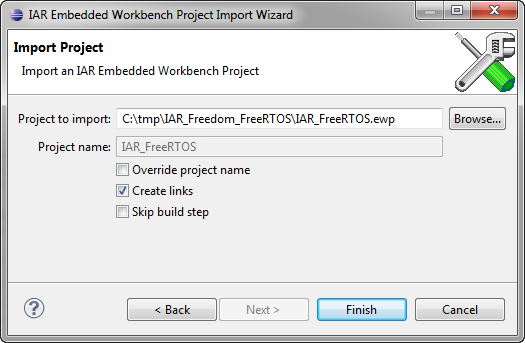 IAR Embedded Workbench project to import into Eclipse