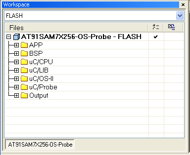 Micrium-AT91SAM7X-RTOS-workspace