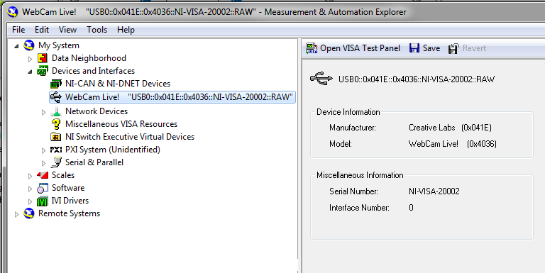 NI VISA Device in MAX fig09