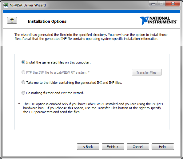 NI VISA Installation Options fig07