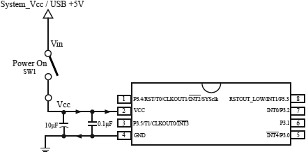 STC15F101E Typical Application Circuit
