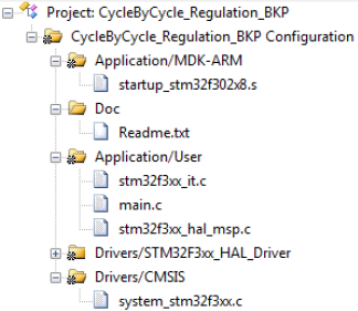 AN4776 project organization fig27