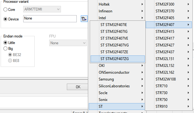 STM32-device-selection