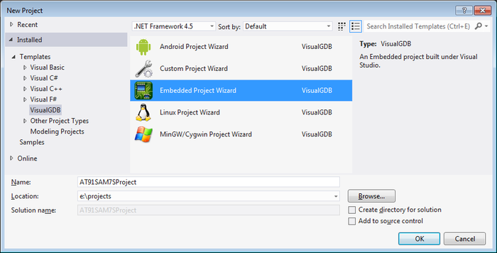 VisualStudio ARM 02 embedded