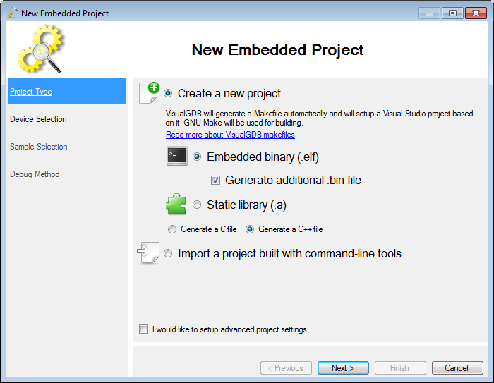 VisualStudio ARM 03 newbinary