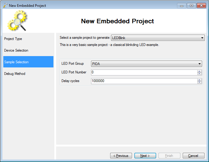 VisualStudio ARM 07 ledblink