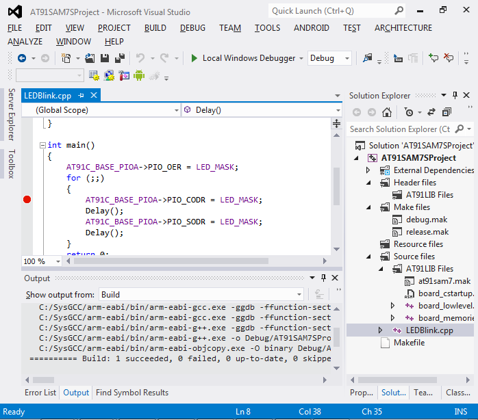 VisualStudio ARM 21 build