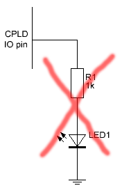 CPLD LED drive source