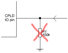 CPLD input no external pulldown
