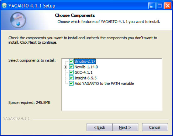 YAGARTO Installation choose Components fig4 3