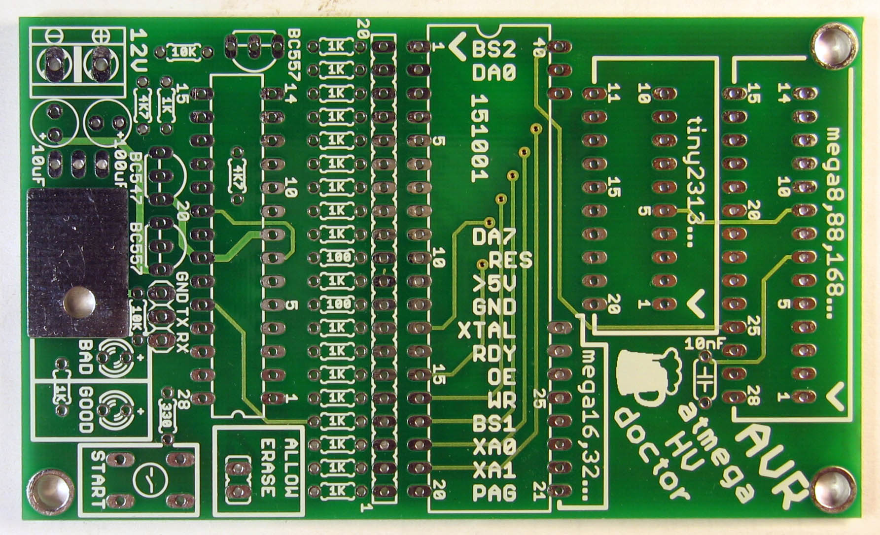 atmega fusebit doctor PCB top
